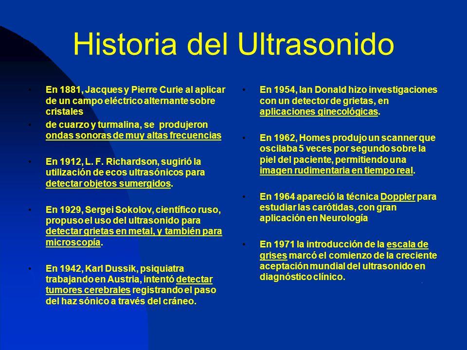 Efectos Biológicos La seguridad del ultrasonido ha sido un tema de debate permanente.