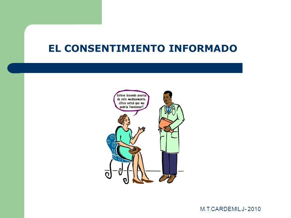M.T.CARDEMIL J- 2010 EL CONSENTIMIENTO INFORMADO