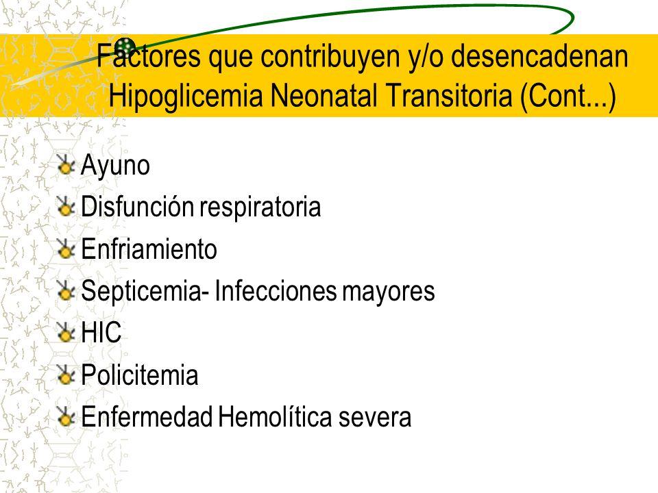 Ayuno Disfunción respiratoria Enfriamiento Septicemia- Infecciones mayores HIC Policitemia Enfermedad Hemolítica severa Factores que contribuyen y/o d