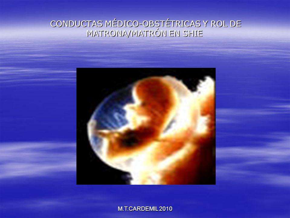M.T.CARDEMIL 2010 CONDUCTAS MÉDICO-OBSTÉTRICAS Y ROL DE MATRONA/MATRÓN EN SHIE CONDUCTAS MÉDICO-OBSTÉTRICAS Y ROL DE MATRONA/MATRÓN EN SHIE