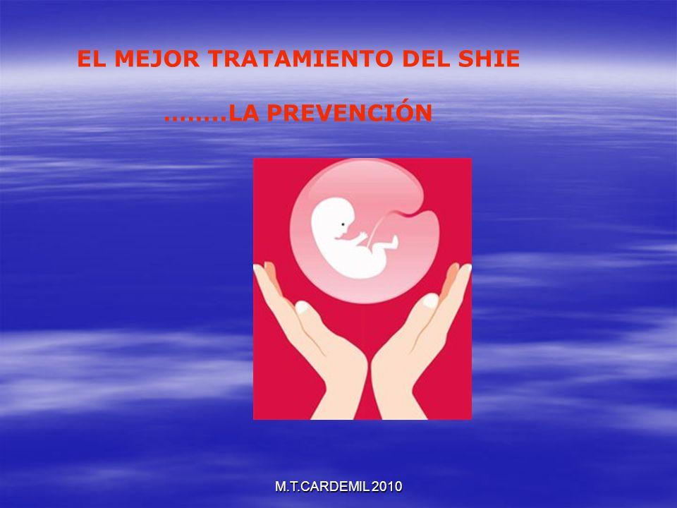 M.T.CARDEMIL 2010 EL MEJOR TRATAMIENTO DEL SHIE ……..LA PREVENCIÓN