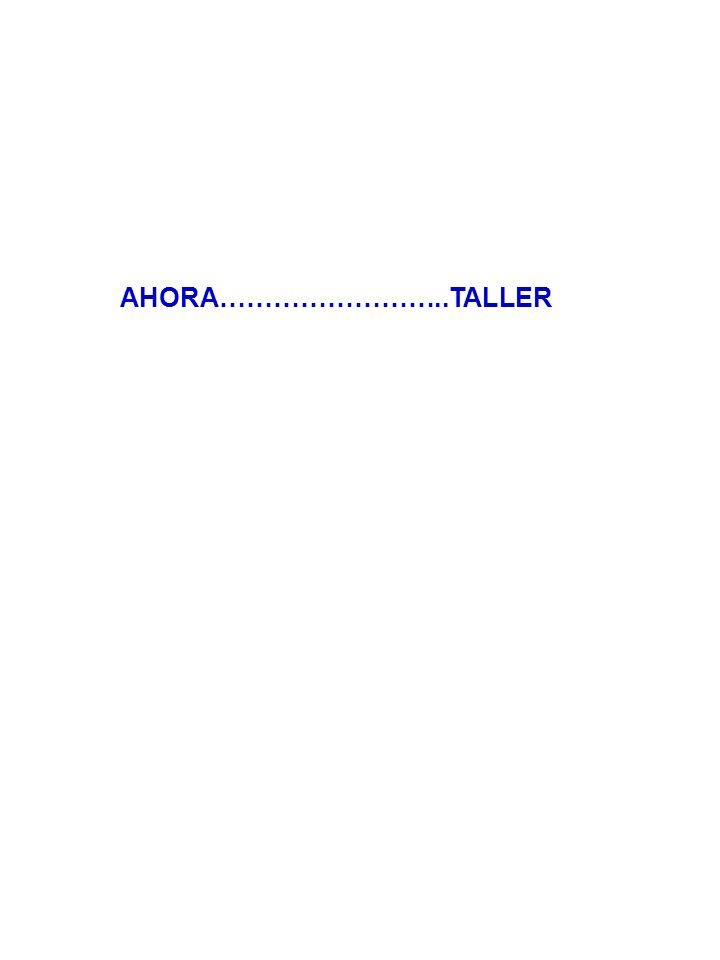 AHORA……………………..TALLER
