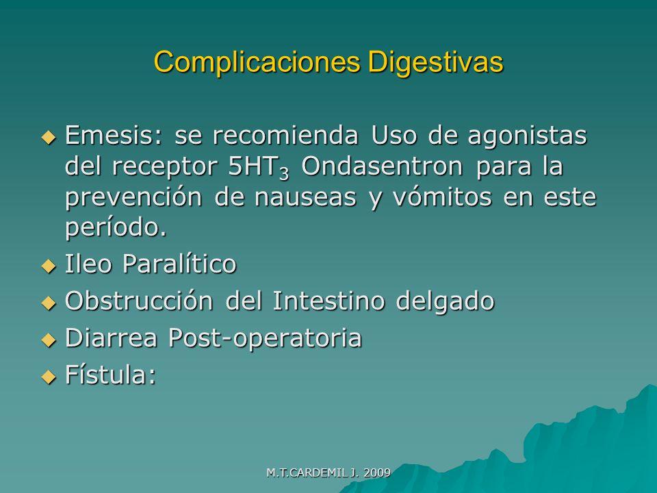 M.T.CARDEMIL J.2009 Ileo paralítico. Ausencia de peristaltismo intestinal.