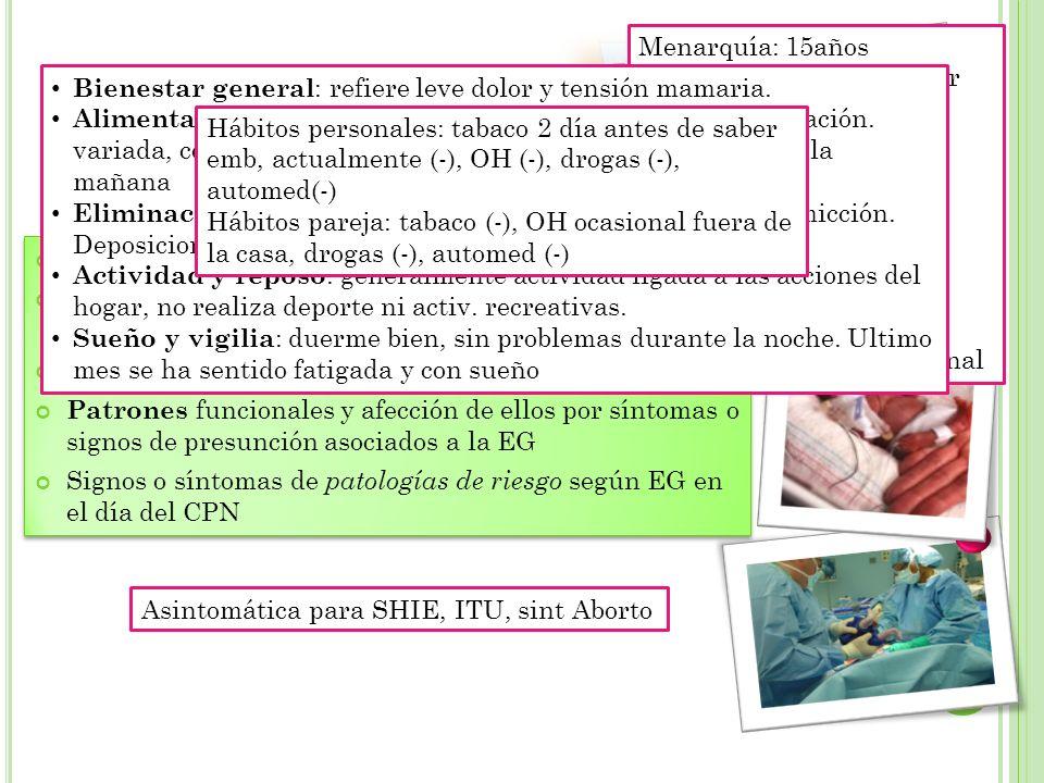 Estructura y funcionamiento familiar Adaptación embarazo actual (personal y familiar).