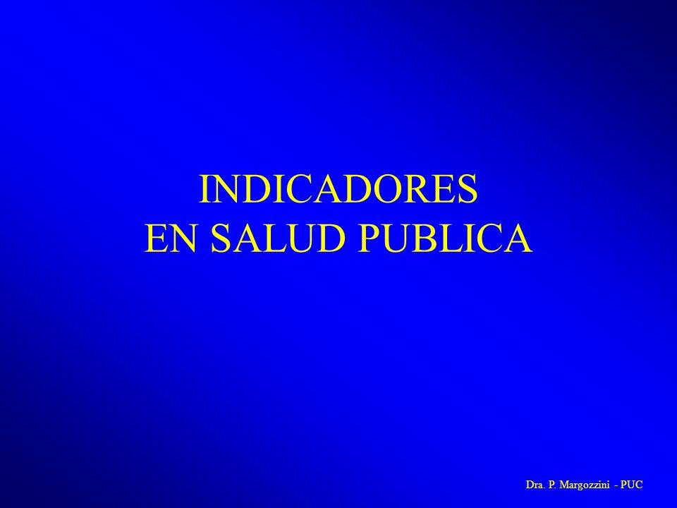 INDICADORES EN SALUD PUBLICA Dra. P. Margozzini - PUC