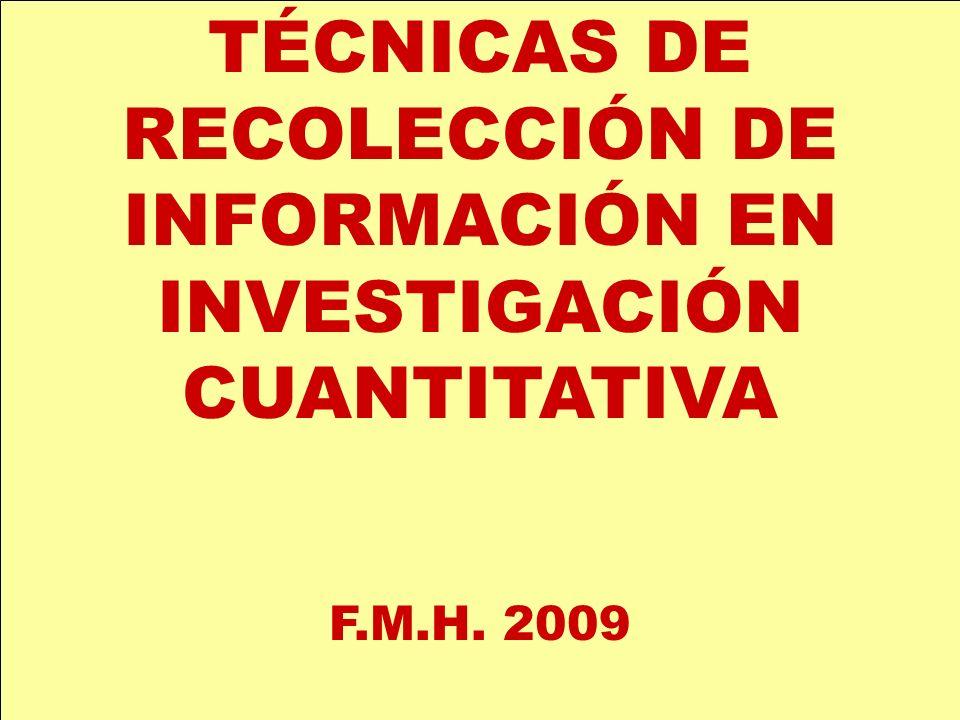 ELEMENTOS QUE INTERVIENEN EN EL PROCESO RECOLECTOR (entrenado) INSTRUMENTO (bien construido y calibrado) UNIDAD INFORMANTE (motivada)