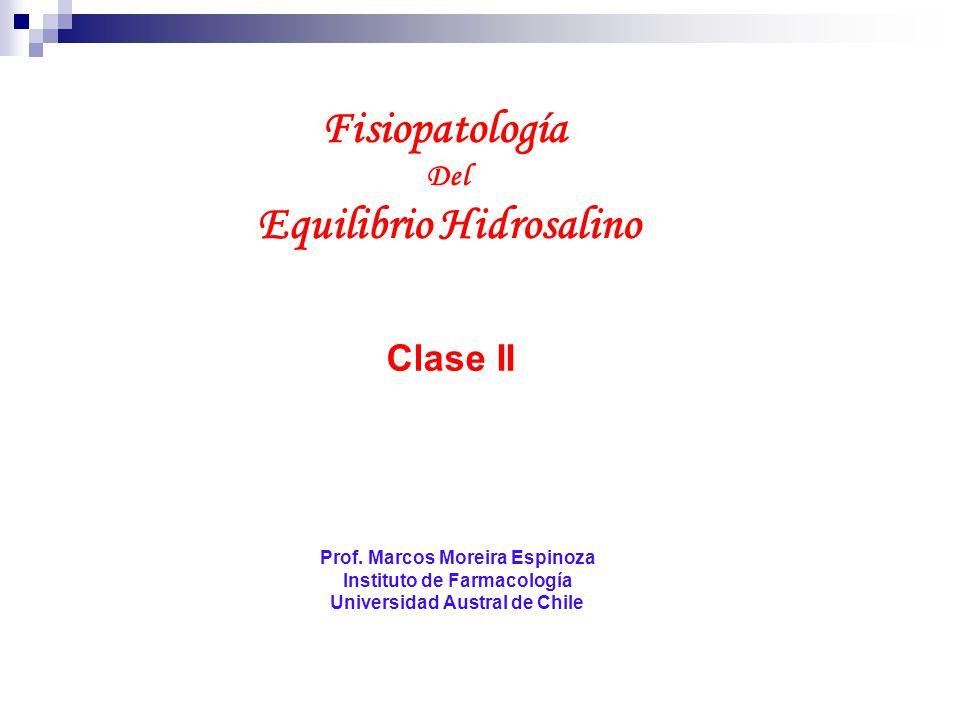 Fisiopatología Del Equilibrio Hidrosalino Prof. Marcos Moreira Espinoza Instituto de Farmacología Universidad Austral de Chile Clase II