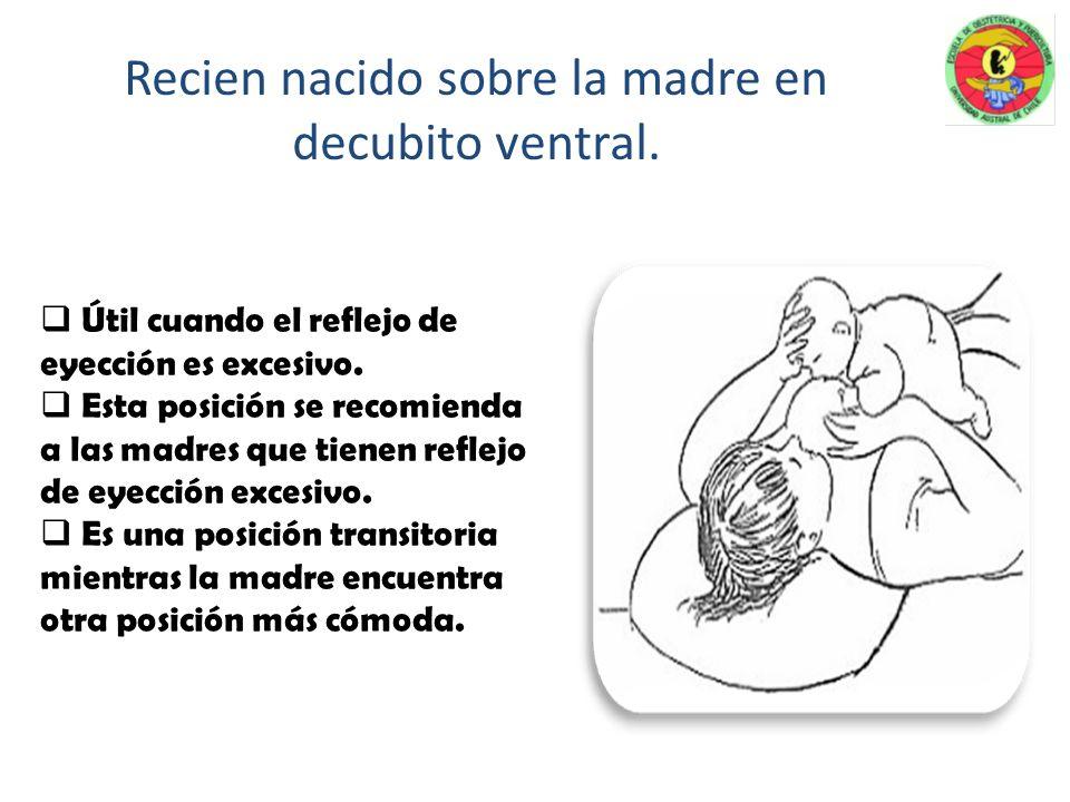 Madre e hijo se acuestan en decúbito lateral, frente a frente y la cara del niño debe estar enfrentando al pecho y el abdomen pegado al cuerpo de su m