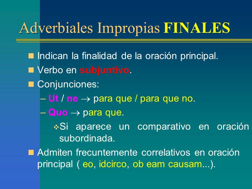 Oraciones subordinadas Adverbiales Impropias
