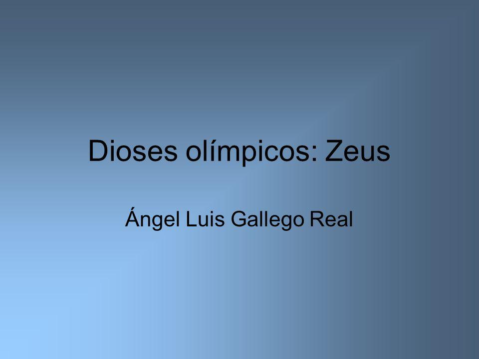 Zeus Zeus es dios de múltiples apetencias eróticas, de ahí sus varios matrimonios, sus numerosas aventuras con diosas y, sobre todo, con mortales e incluso un amor homosexual con el joven Ganímedes.