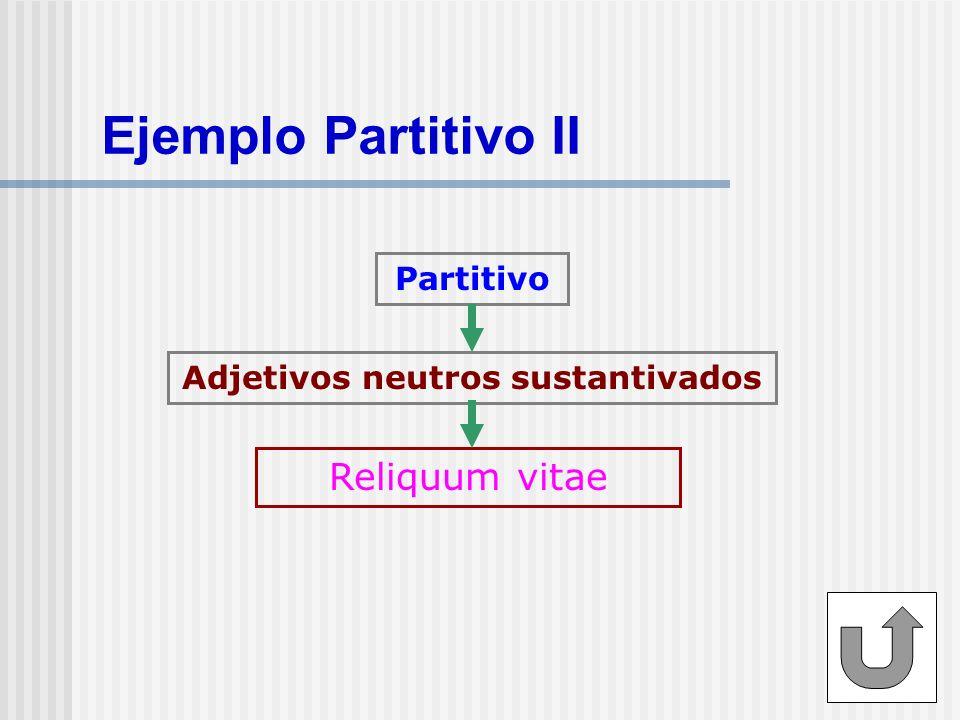 Ejemplo Partitivo III Partitivo Superlativos Horum omnium fortissimi sunt Belgae