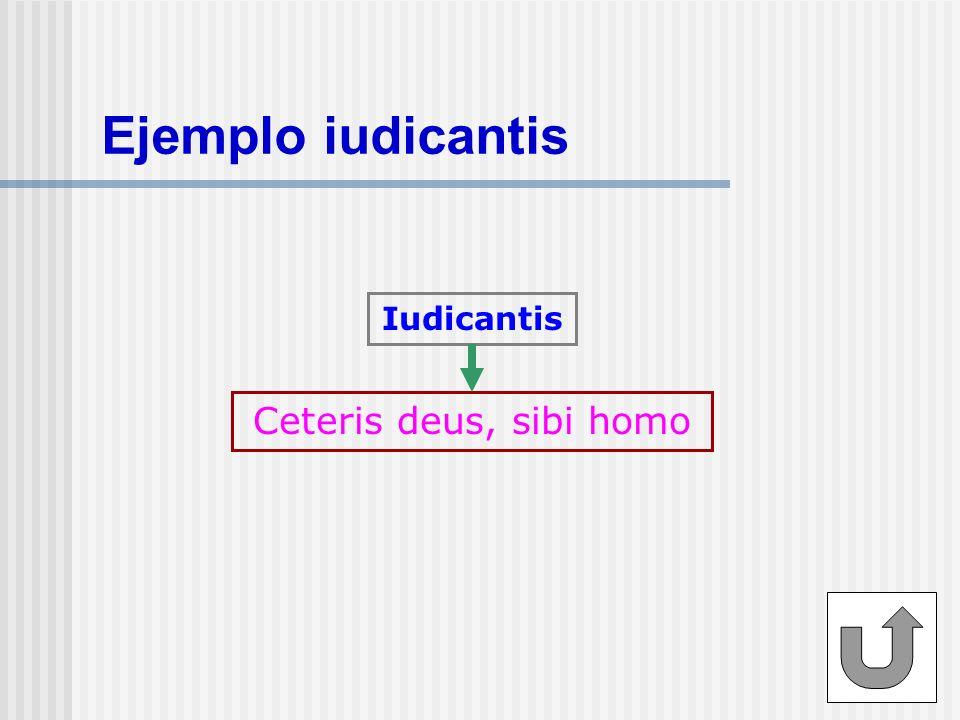 Ejemplo iudicantis Iudicantis Ceteris deus, sibi homo