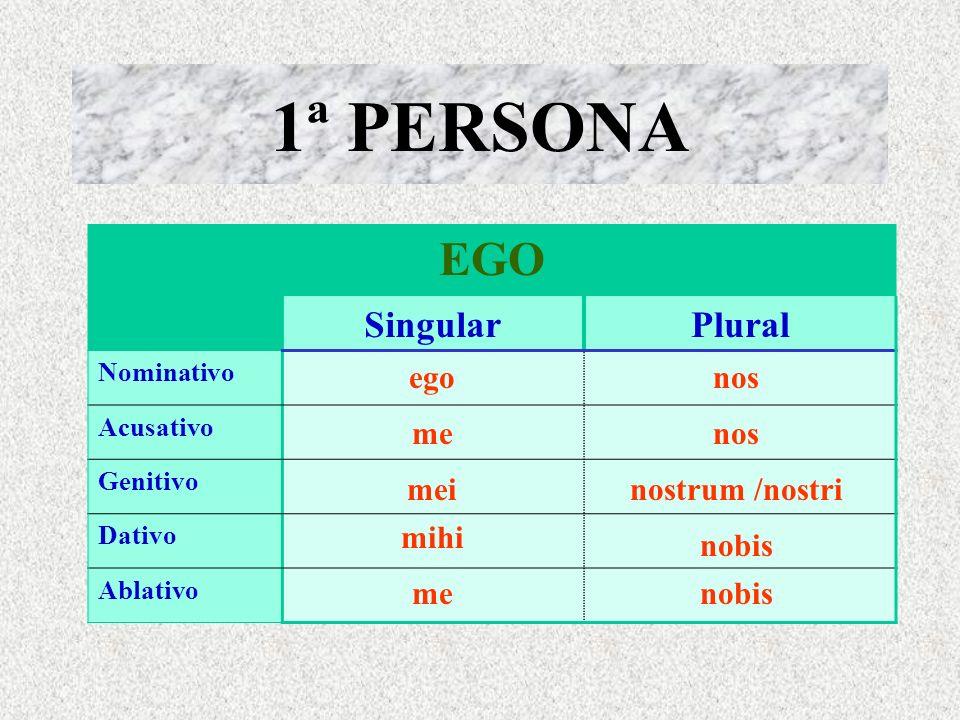 PERSONALES Función enfática: egomet - tute - sese Formas especiales (ablativo sing. y pl.): mecum, tecum, secum, nobiscum, vobiscum Dos posibilidades