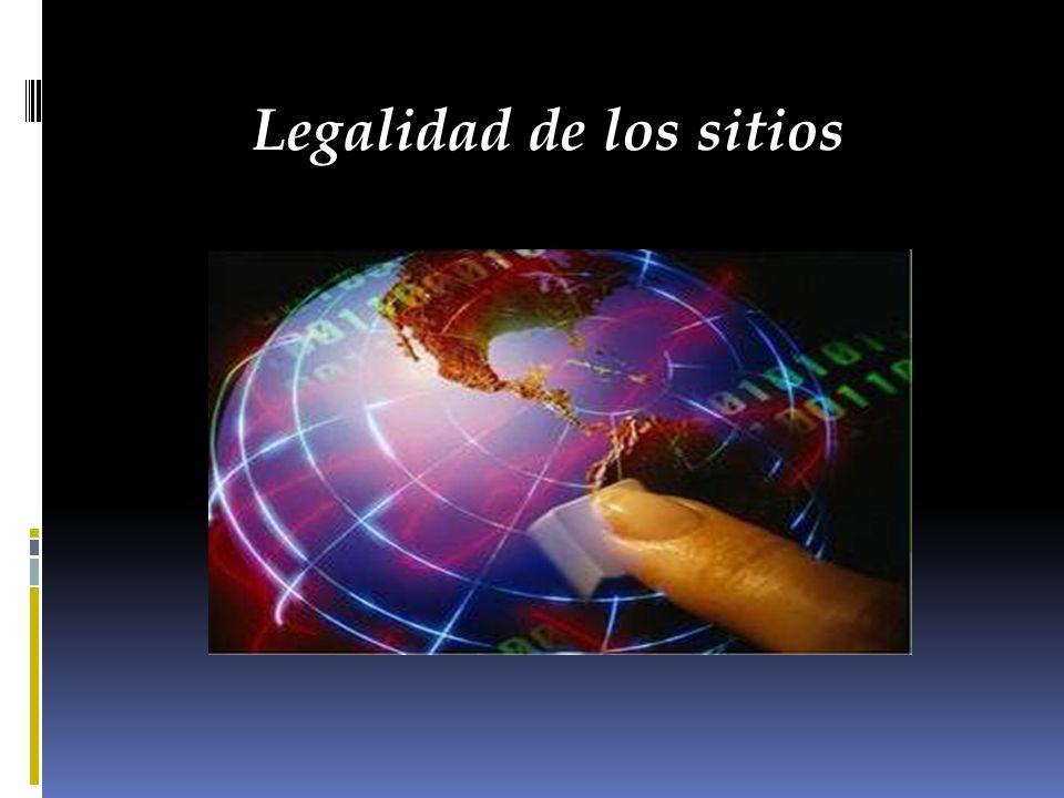 Legalidad de los sitios