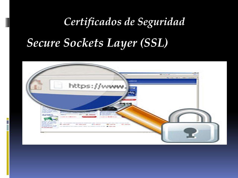 Certificados de Seguridad Secure Sockets Layer (SSL)