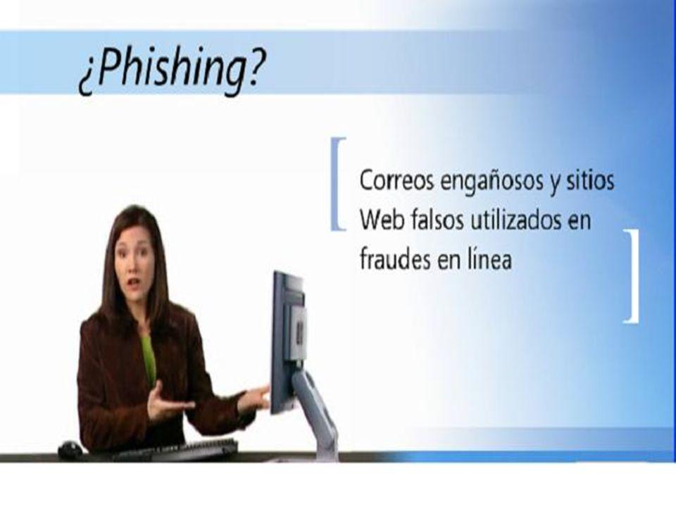 Phishing El phishing es una técnica de captación ilícita de datos personales (principalmente relacionados con claves para el acceso a servicios bancarios y financieros) a través de correos electrónicos o páginas web que imitan/copian la imagen o apariencia de una entidad bancaria/financiera (o cualquier otro tipo de empresa de reconocido prestigio).