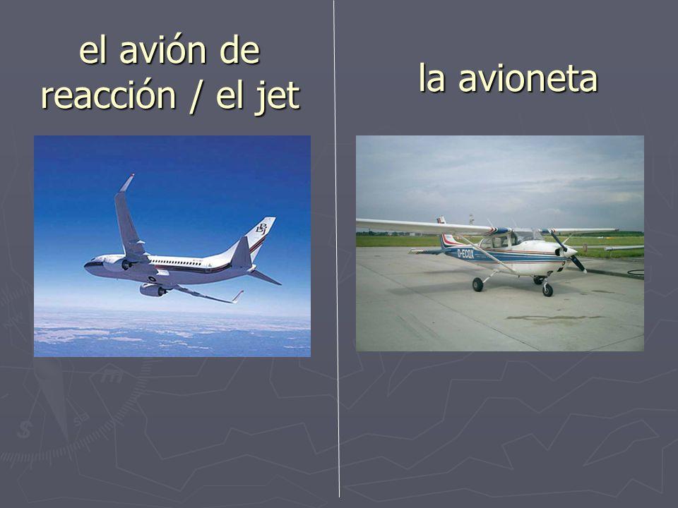 el/la comandante/ el/la piloto el/la co-piloto