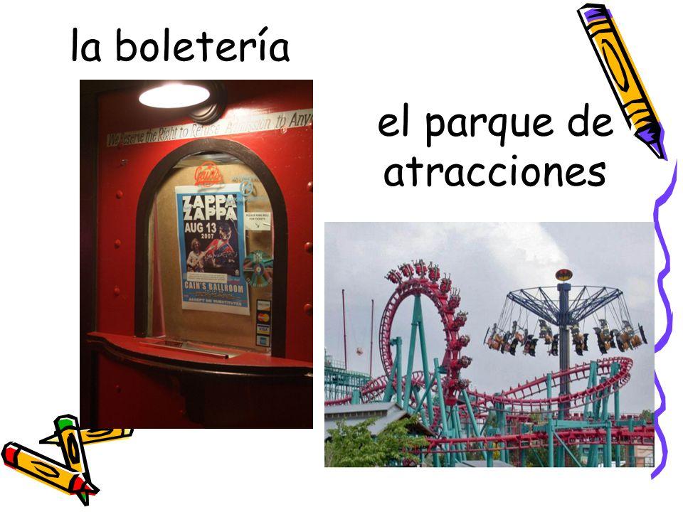 la boletería el parque de atracciones