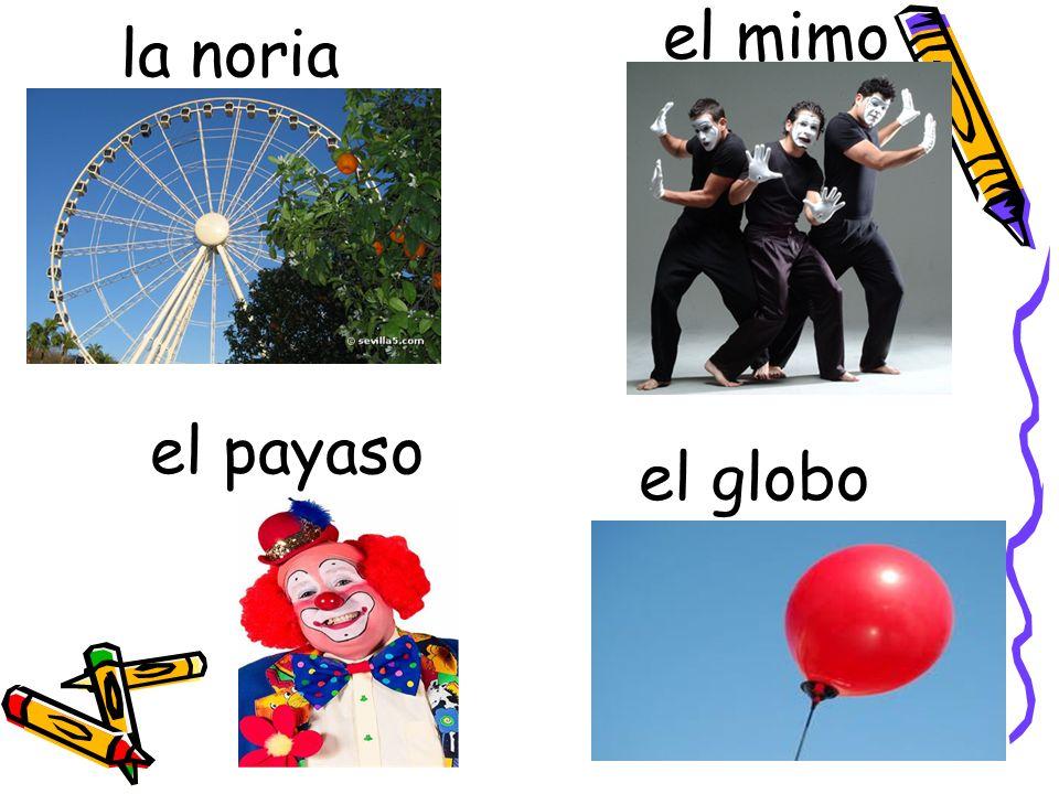 la noria el mimo el payaso el globo