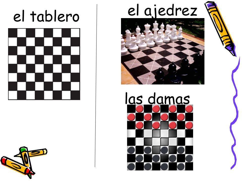 el ajedrez el tablero las damas