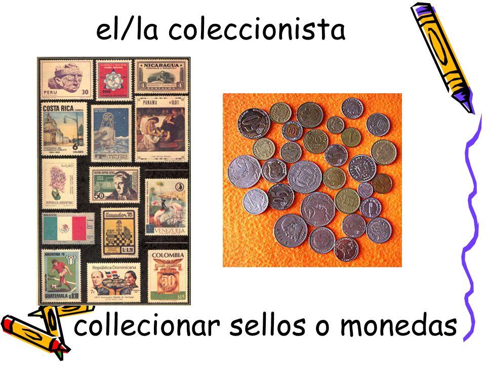 el/la coleccionista collecionar sellos o monedas