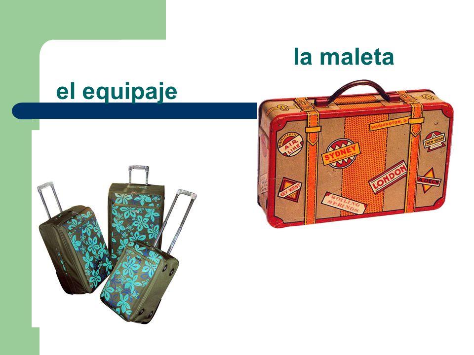 el equipaje la maleta