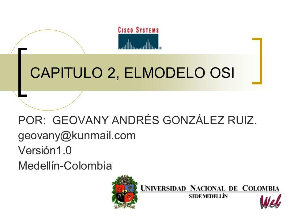 Semestre 1, Capitulo 2, Modelo OSI v.1.0 Por.Geovany Andrés Gonzalez Ruiz 32 …Cont.