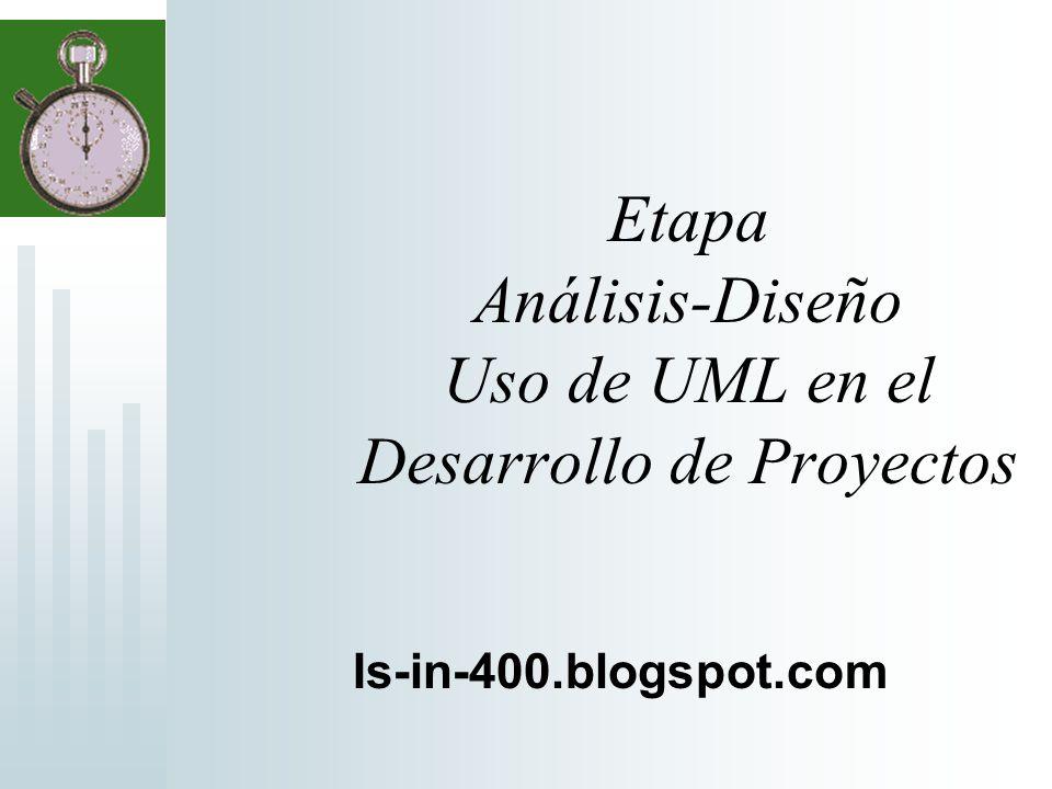 Etapa Análisis-Diseño Uso de UML en el Desarrollo de Proyectos Is-in-400.blogspot.com