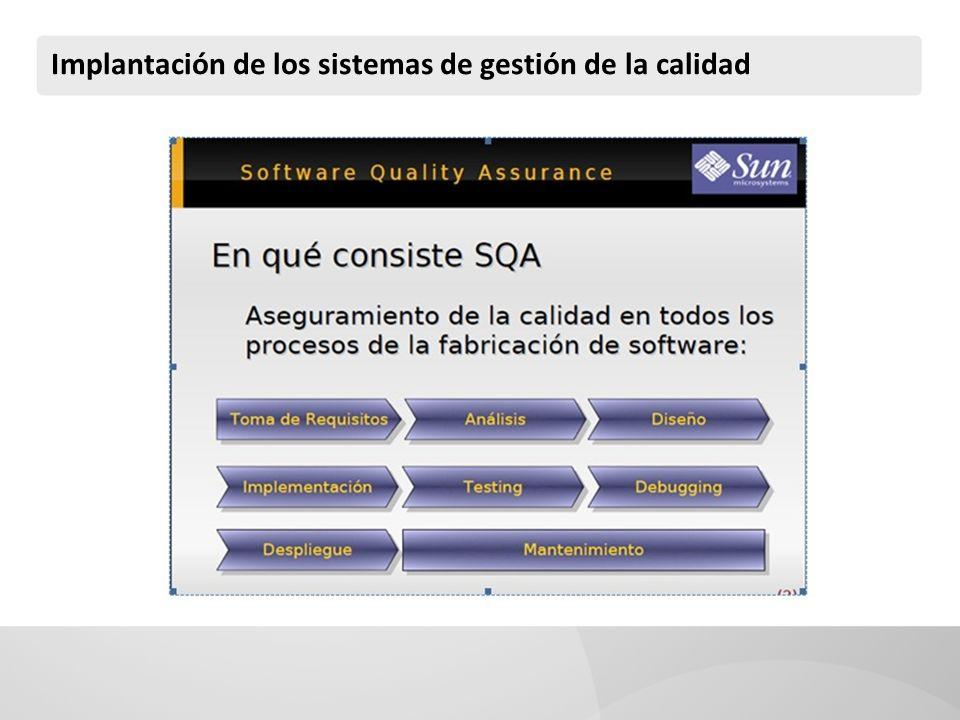 Implantación de los sistemas de gestión de la calidad