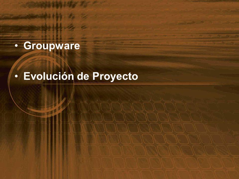 Groupware Evolución de Proyecto
