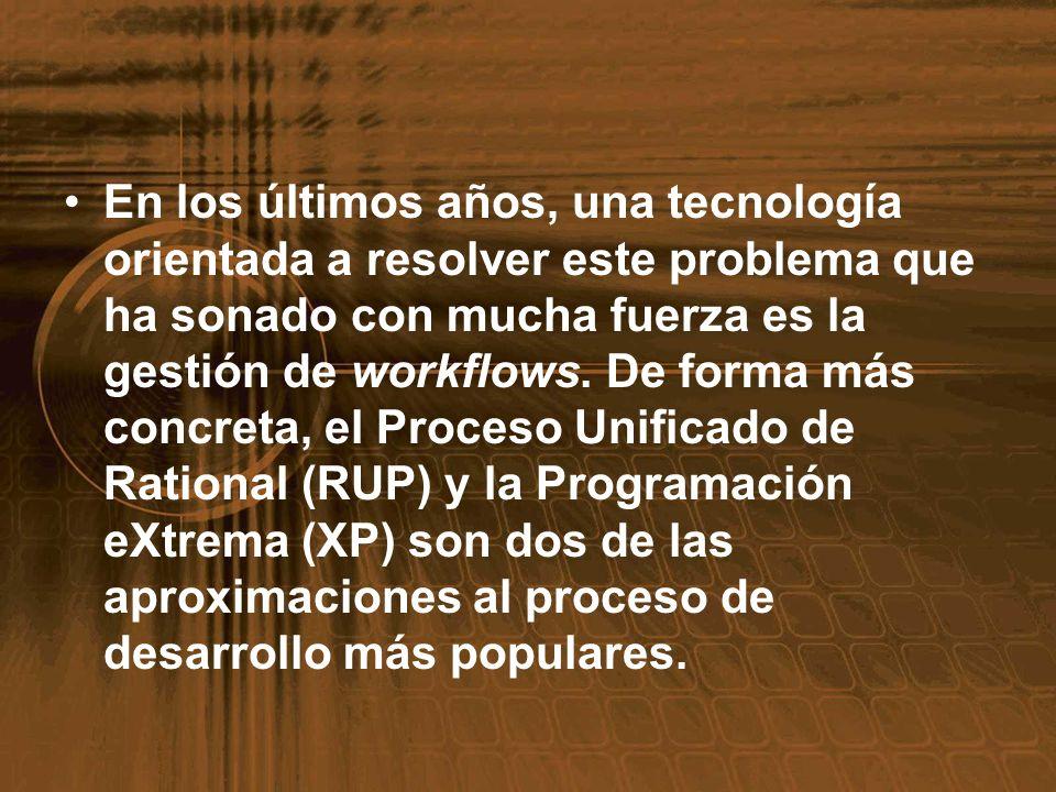 En los últimos años, una tecnología orientada a resolver este problema que ha sonado con mucha fuerza es la gestión de workflows. De forma más concret