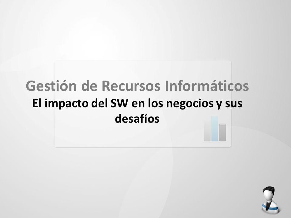 Gestión de Recursos Informáticos El impacto del SW en los negocios y sus desafíos