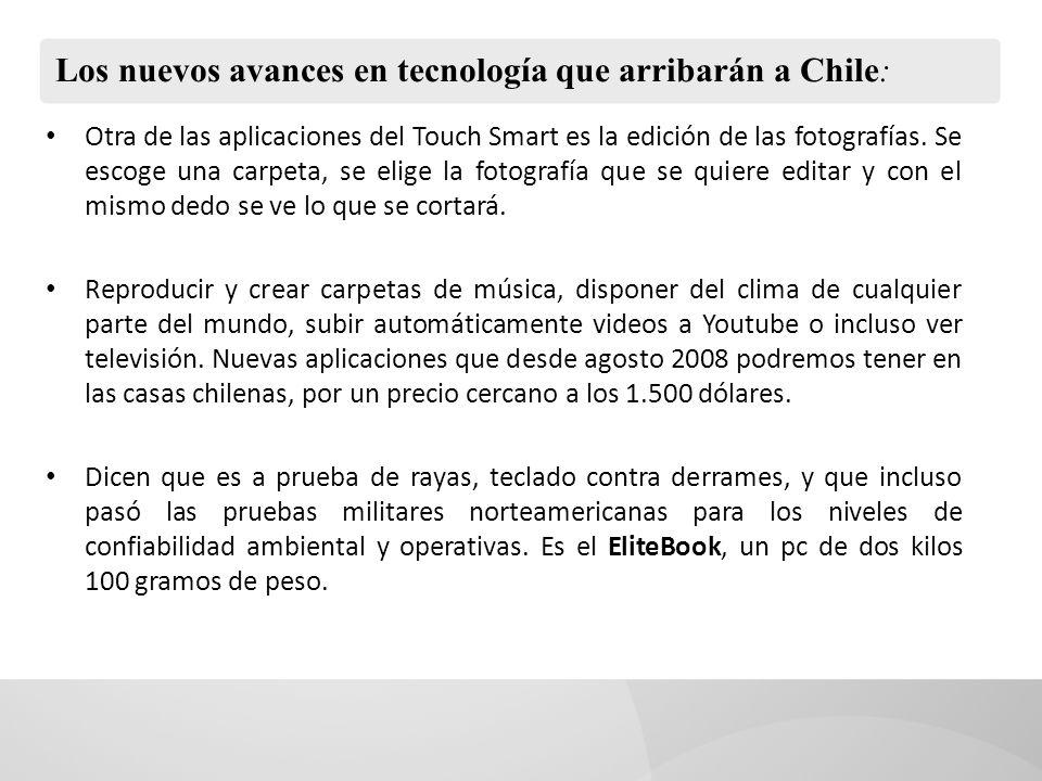 Los nuevos avances en tecnología que arribarán a Chile: Otra de las aplicaciones del Touch Smart es la edición de las fotografías.