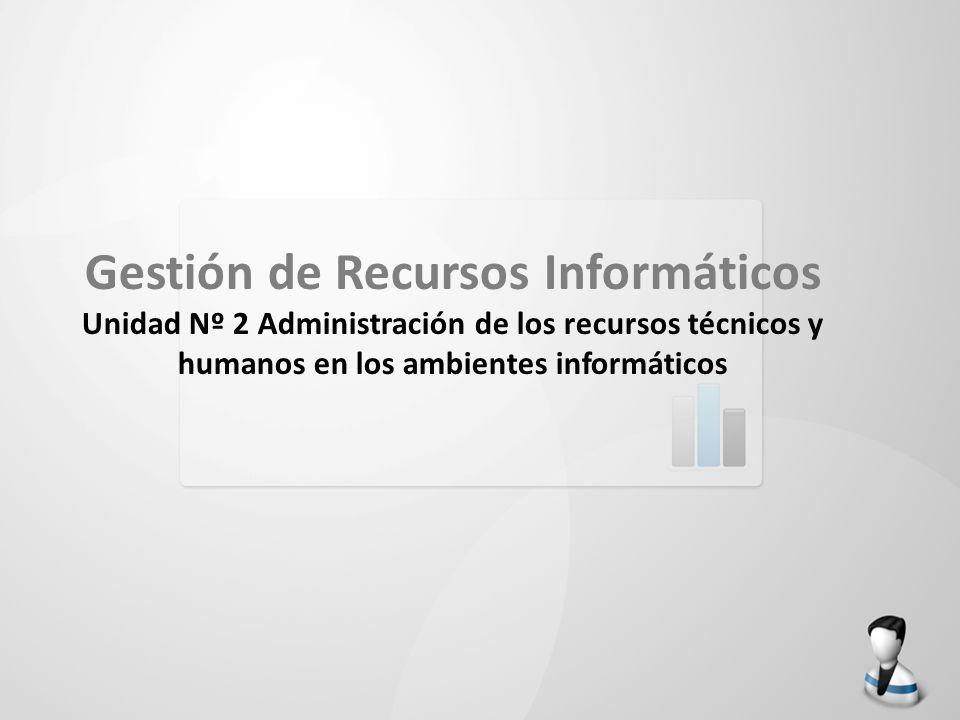 Gestión de Recursos Informáticos Unidad Nº 2 Administración de los recursos técnicos y humanos en los ambientes informáticos