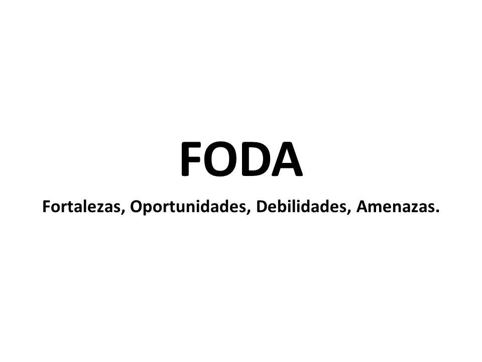 FODA Fortalezas, Oportunidades, Debilidades, Amenazas.