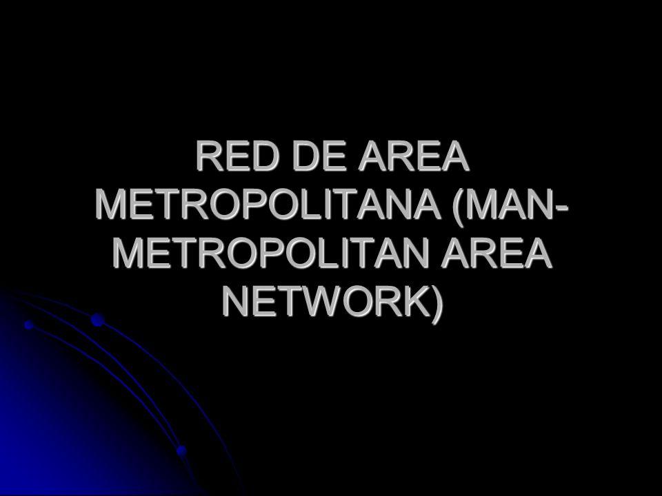 RED DE AREA METROPOLITANA (MAN- METROPOLITAN AREA NETWORK)