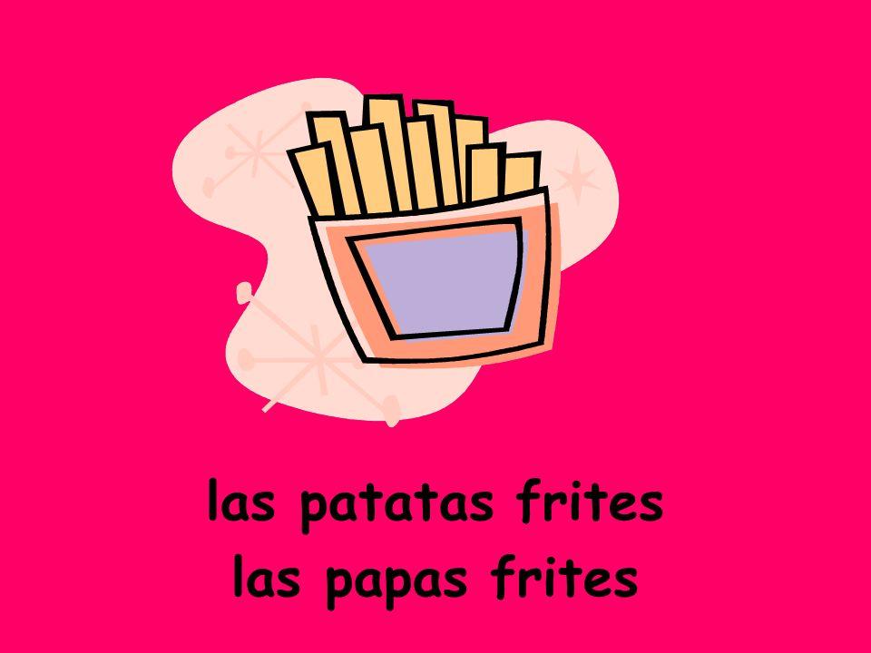 las patatas frites las papas frites