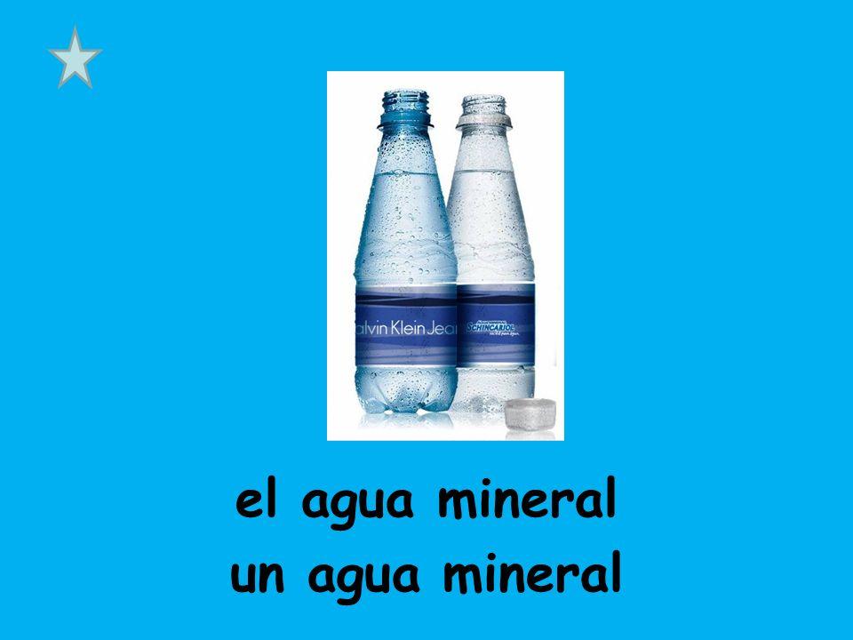 el agua mineral un agua mineral