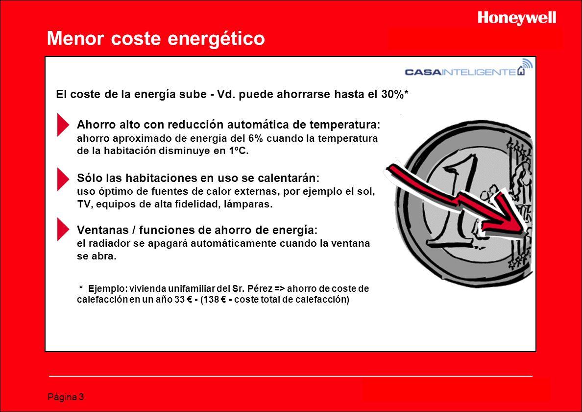 Página 3 Menor coste energético Ahorro alto con reducción automática de temperatura: ahorro aproximado de energía del 6% cuando la temperatura de la h