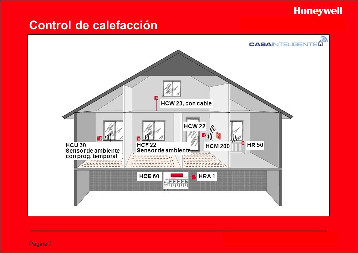 Página 7 HCW 23, con cable HCU 30 Sensor de ambiente con prog. temporal HCF 22 Sensor de ambiente HCW 22 HCM 200 HR 50 HCE 60 HRA 1 Control de calefac
