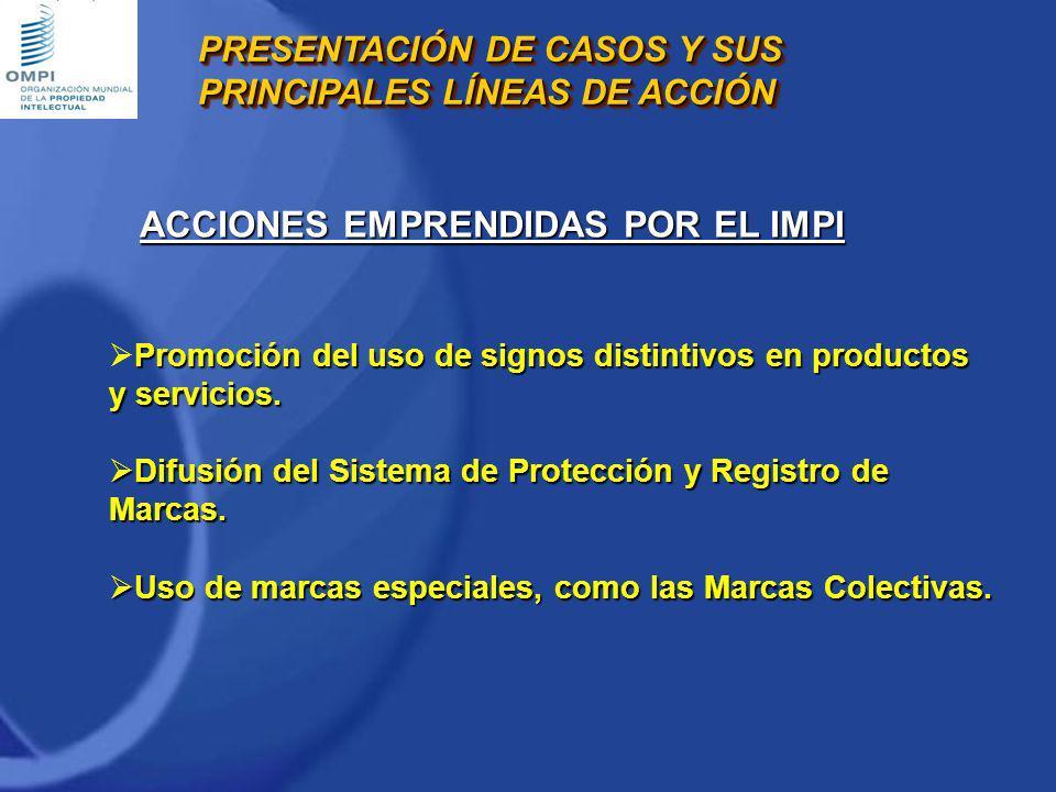 Promoción del uso de signos distintivos en productos y servicios. Difusión del Sistema de Protección y Registro de Marcas. Difusión del Sistema de Pro