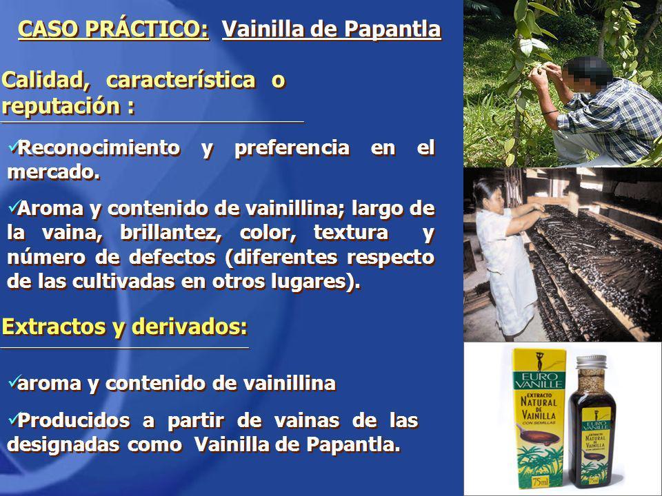 aroma y contenido de vainillina Producidos a partir de vainas de las designadas como Vainilla de Papantla. aroma y contenido de vainillina Producidos