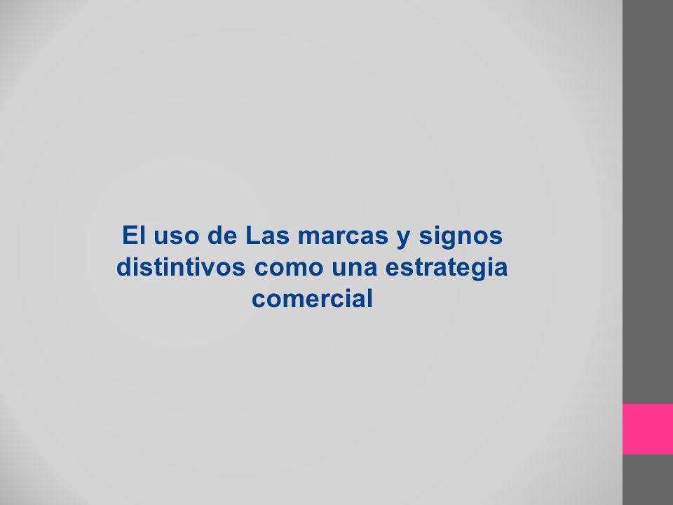 Funciones principales de un signo distintivo Función identificadora: Indica la procedencia del producto permite a los consumidores distinguir los productos de una empresas de los de la competencia Función de garantía de calidad constante: promociona los productos y crea clientela fiel.