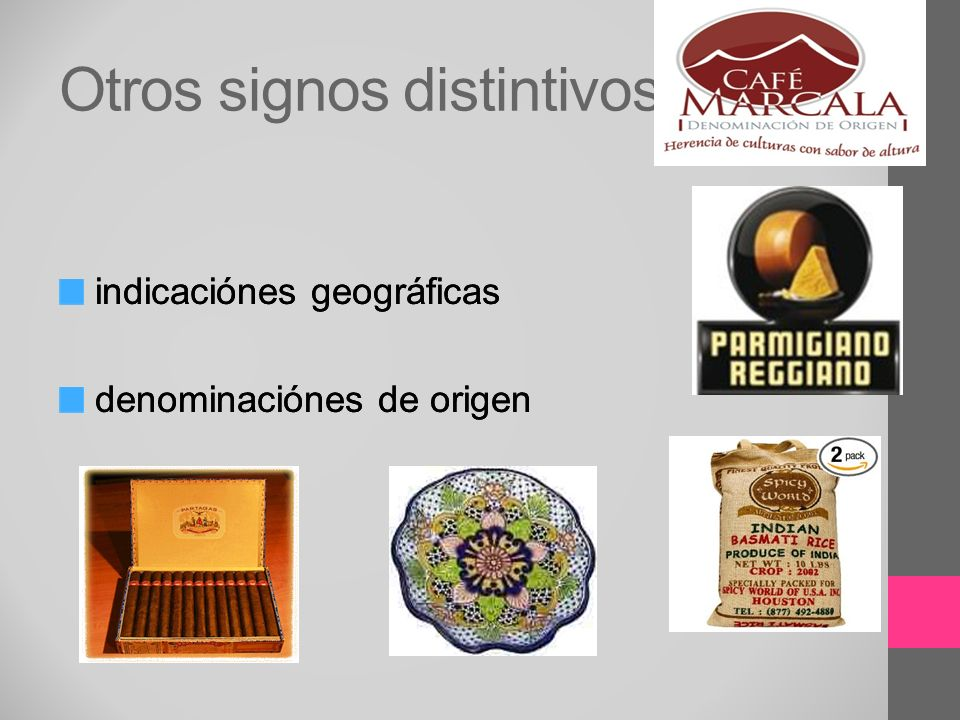 Otros signos distintivos indicaciónes geográficas denominaciónes de origen indicaciónes geográficas denominaciónes de origen