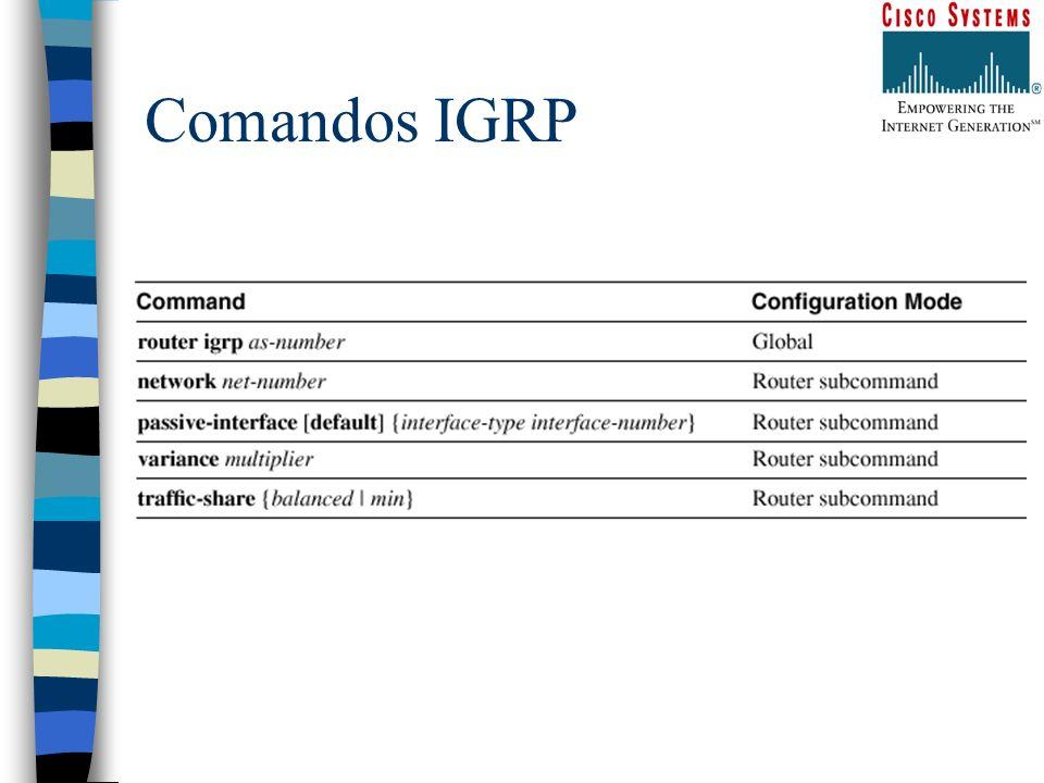 Comandos IGRP