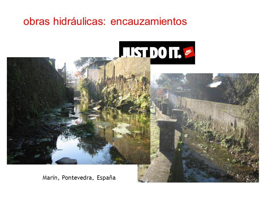 obras hidráulicas: encauzamientos Marín, Pontevedra, España