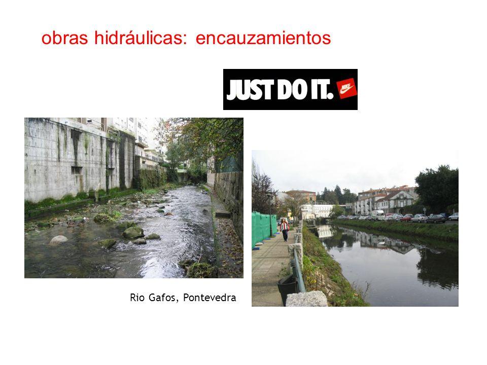 obras hidráulicas: encauzamientos Rio Gafos, Pontevedra