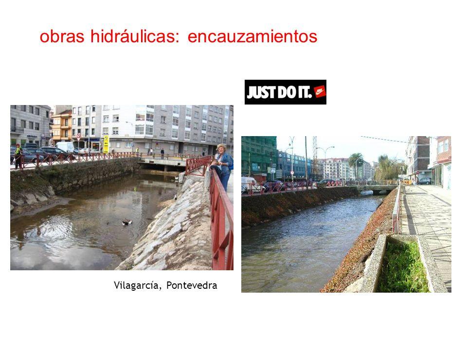 obras hidráulicas: encauzamientos Vilagarcía, Pontevedra