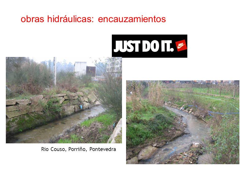 obras hidráulicas: encauzamientos Rio Couso, Porriño, Pontevedra