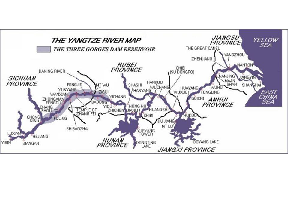 NOTAS SOBRE LA PRESA DE LAS TRES GARGANTAS La presa de las Tres Gargantas, actualmente en construcción en el río Yangtze, será la obra hidráulica más grande del mundo.